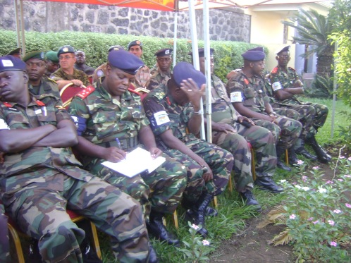 Des officiers de la CIRGL de l'Equipe Militaire d'Evaluation le 22/09 à Goma© Charly Kasereka, L'actu du Kivu
